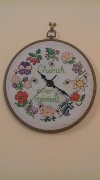Cross stitch clock