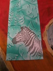 Zebra bookmark